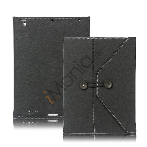 Image of   Jeans Cool Style Kunstlæder Taske håndtaske til Den Nye iPad 3:e 2:a 4th Generation - Sort
