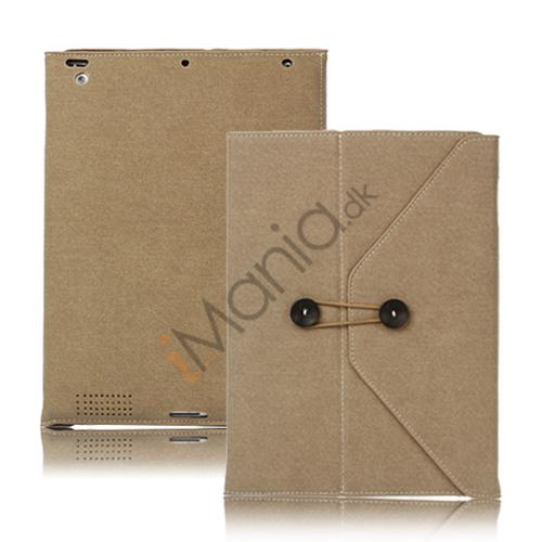 Image of   Jeans Cool Style Kunstlæder Taske håndtaske til Den Nye iPad 3:e 2:a 4th Generation - Brun