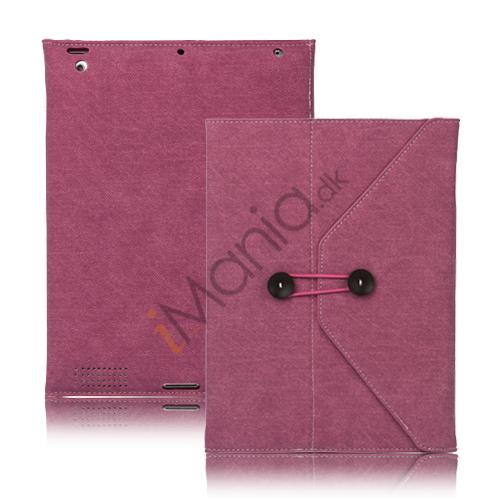 Image of   Jeans Cool Style Kunstlæder Taske håndtaske til Den Nye iPad 3:e 2:a 4th Generation - Rose