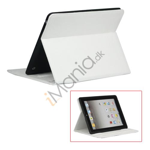 Image of   Stilet Microfiber Case Cover med stativ til Den Nye iPad 2 3 4 - Hvid