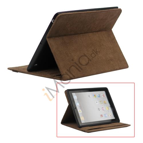 Image of   Stilet Microfiber Case Cover med stativ til Den Nye iPad 2 3 4 - Kaffe