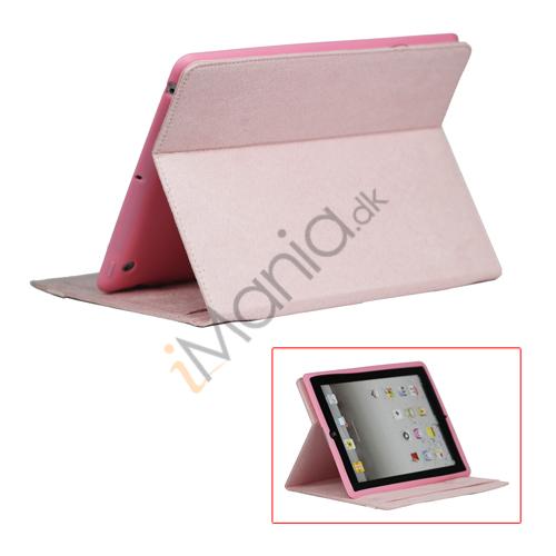 Image of   Stilet Microfiber Case Cover med stativ til Den Nye iPad 2 3 4 - Pink