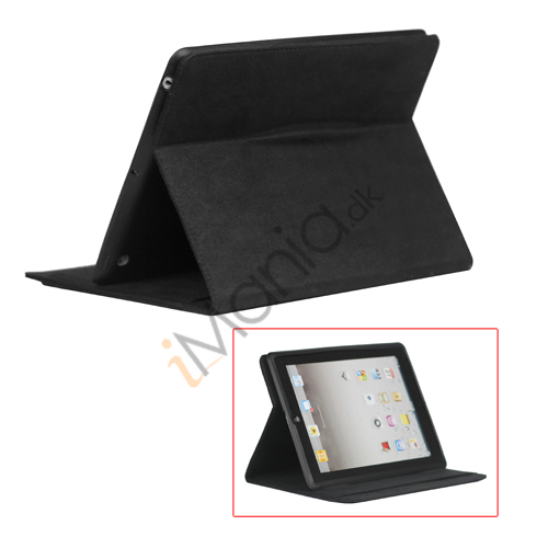 Image of   Stilet Microfiber Case Cover med stativ til Den Nye iPad 2 3 4 - Sort