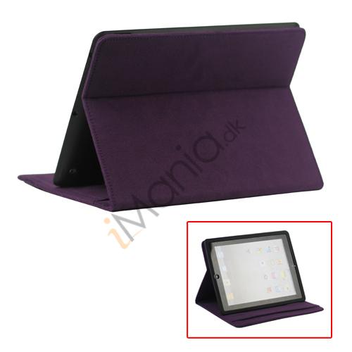 Image of   Stilet Microfiber Case Cover med stativ til Den Nye iPad 2 3 4 - Lilla