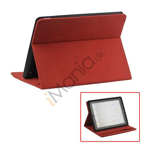 Image of   Stilet Microfiber Case Cover med stativ til Den Nye iPad 2 3 4 - Rød