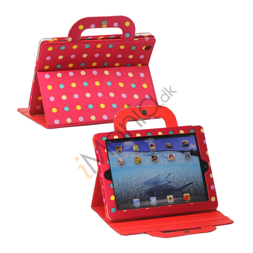 Image of   Polka Dot håndtaske Canvas Smart Cover til iPad 4. 3. 2nd Gen