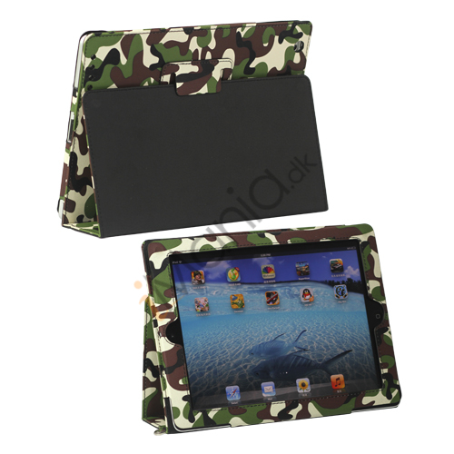 Image of   Camouflage Canvas Smart Cover med rem til iPad 4. 3. 2nd Gen