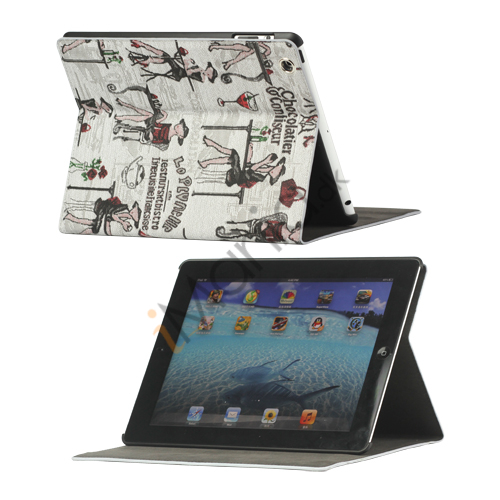 Image of   Fashion Lady PU Kunstlæder Stand Case Smart Cover til iPad 2 3 4 - Grå