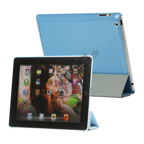 Image of   Folio Magnetisk PU Kunstlæder Taske Smart Cover til iPad 4. 3. 2nd Generation - Blue