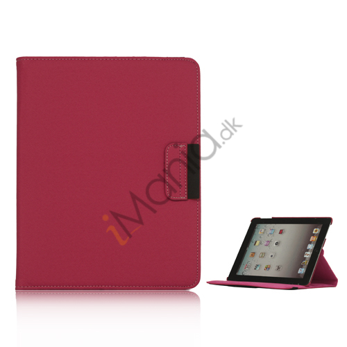 Image of   Drejes 360 grader, Folio Canvas Stand Case med Stylus til iPad 2. 3. 4. Generation - Rød