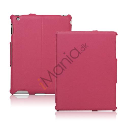 Slim Lychee PU Kunstlæder Case Cover til iPad 2. 3. 4. Gen - Rose