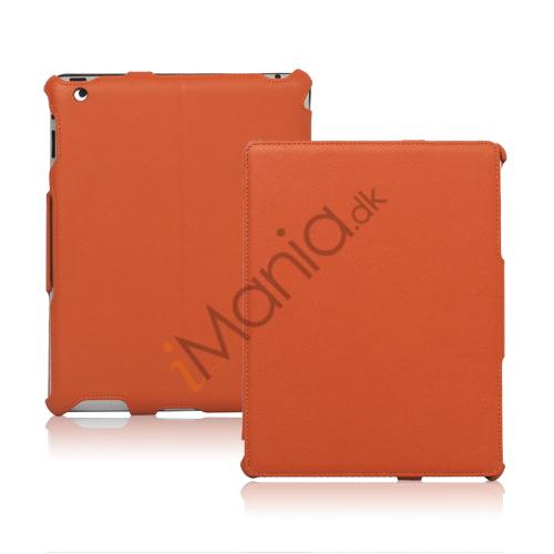 Slim Lychee PU Kunstlæder Case Cover til iPad 2. 3. 4. Gen - Orange