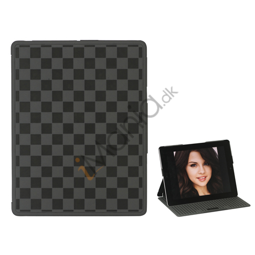 Gitter Plastic Smart Cover med holder til iPad 2. 3. 4. Gen - Sort