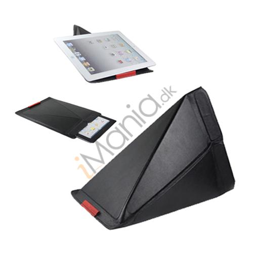 Premium Ægte Læder Flip Etui Taske med holder til iPad 2 den nye iPad 3rd gen