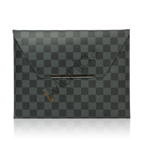 LV Style PU Kunstlæder Etui Taske Taske til iPad 2 Den nye iPad 3rd Generation - Grå