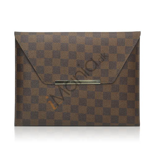 LV Style PU Kunstlæder Etui Taske Taske til iPad 2 Den nye iPad 3rd Generation - Brun