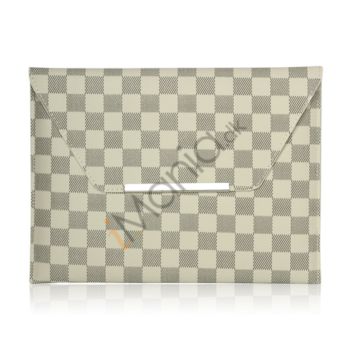 LV Style PU Kunstlæder Etui Taske Taske til iPad 2 Den nye iPad 3rd Generation - Hvid