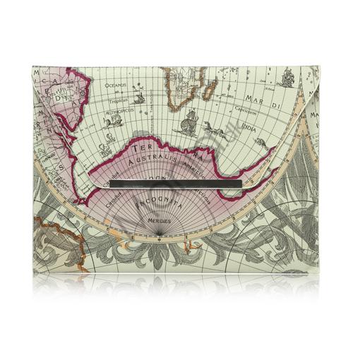 World Map Rejsetaske Kunstlædertaske Taske til iPad 2 den nye iPad 3rd gen