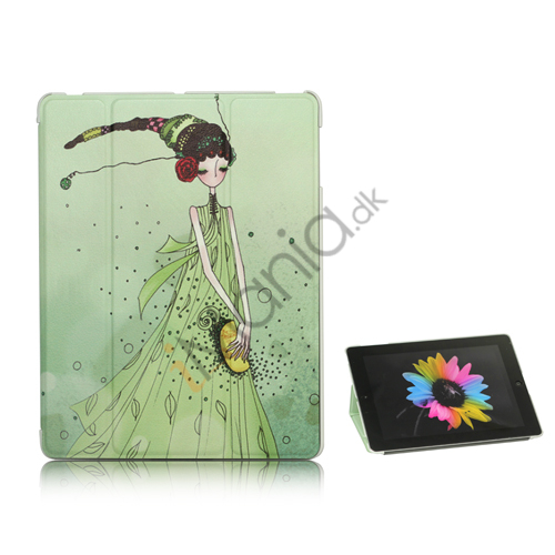 Image of   iPad 2 3 4 Stand Kunstlæder Smart Cover Doll Girl Lily