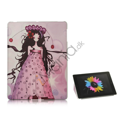 Doll Girl Grace PU Leather Smart Cover med holder til iPad 2. 3. 4. Gen