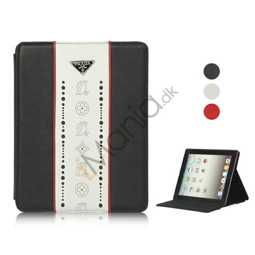 Folio Style PU Kunstlæder Case Cover med holder til iPad 2. 3. 4. generation, Flere farver