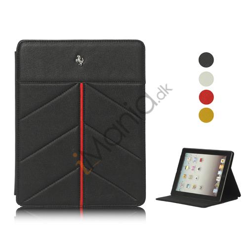 Ferrari Stand Kunstlæder Cover Taske til iPad 2. 3. 4. Gen, Flere farver