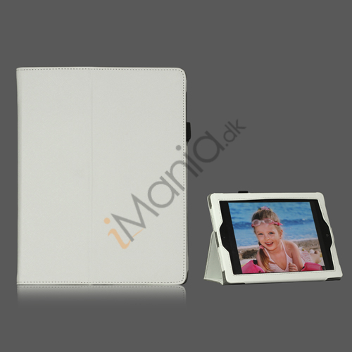 Image of   Folio PU Kunstlæder Cover Case med holder til iPad 4 3. 2nd Generation - Hvid