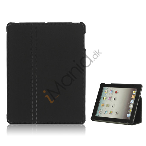 Premium Canvas Folio Case Holder til iPad 2 3 4 - Sort