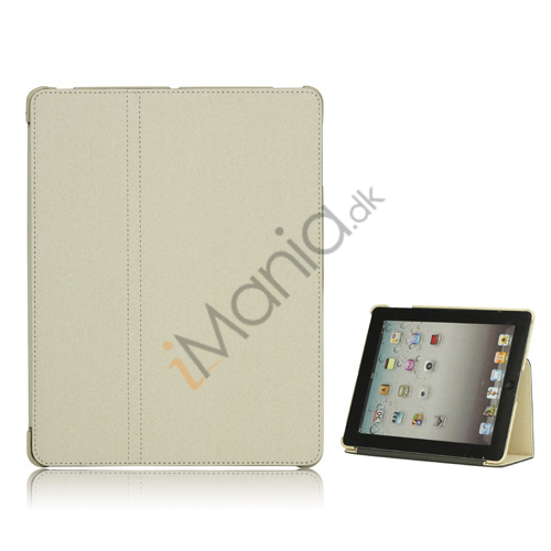Premium Canvas Folio Case Holder til iPad 2 3 4 - Hvid