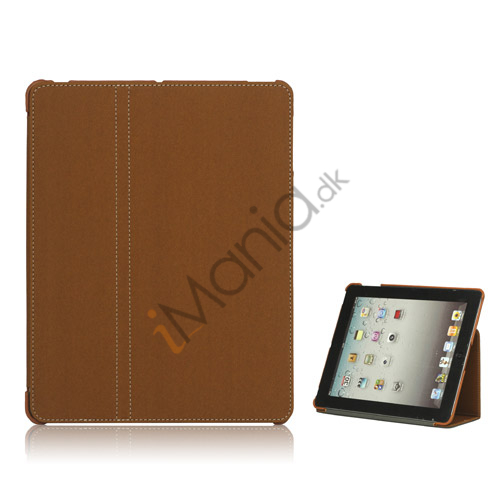 Premium Canvas Folio Case Holder til iPad 2 3 4 - Brun