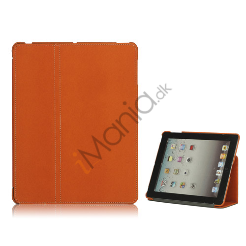 Premium Canvas Folio Case Holder til iPad 2 3 4 - Orange