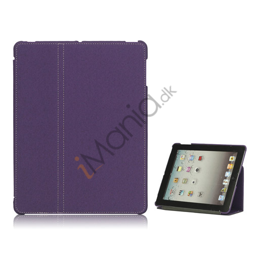 Premium Canvas Folio Case Holder til iPad 2 3 4 - Lilla