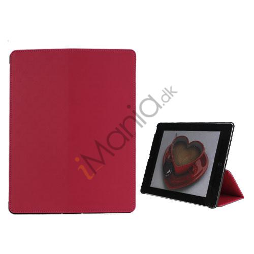 Premium Folio KunstKunstlæder Case med bælte Stand støvtæt Plug Etc til den nye iPad 3:e 2nd Gen-Rose