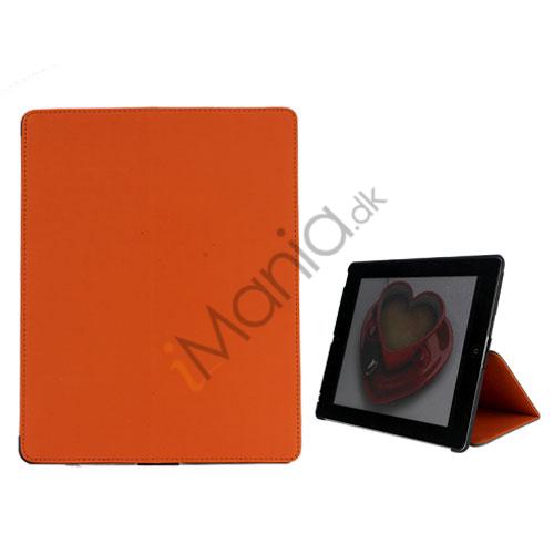 Premium Folio KunstKunstlæder Case med bælte Stand støvtæt Plug Etc til iPad 3:e 2nd Gen - Orange