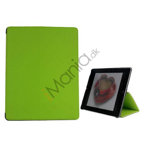Premium Folio KunstKunstlæder Case med bælte Stand støvtæt Plug Etc til iPad 3:e 2nd Gen - Grøn
