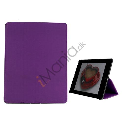 Premium Folio KunstKunstlæder Case med bælte Stand støvtæt Plug Etc til den nye iPad 3:e 2nd Gen - Lilla