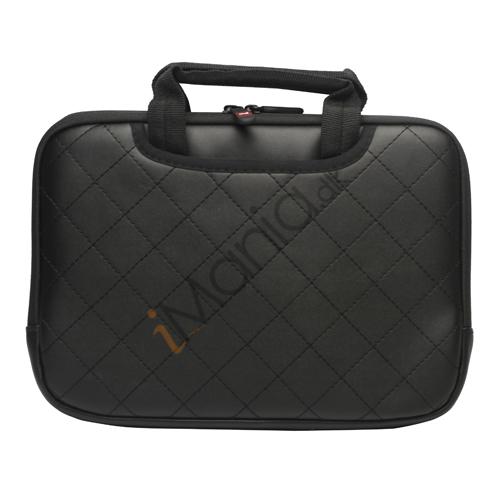 Image of   10,2 tommer Kunstlæder håndtaske taske til Den Nye iPad 2 3 4 Samsung P7500 P7510 P5100 - Black