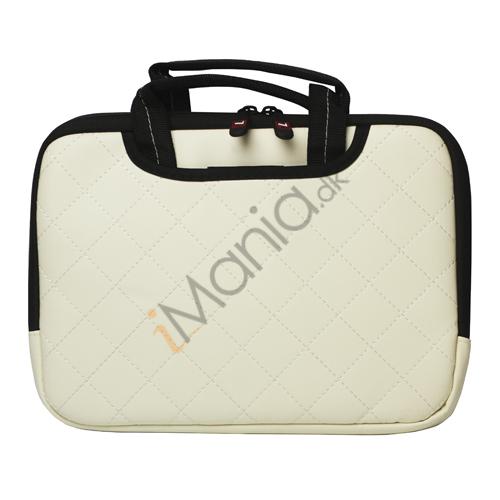 Image of   10,2 tommer Kunstlæder håndtaske taske til Den Nye iPad 2 3 4 Samsung P7500 P7510 P5100 - Hvid