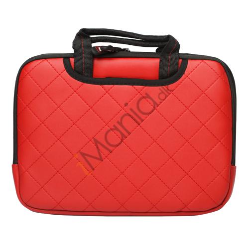 Image of   10,2 tommer Kunstlæder håndtaske taske til Den Nye iPad 2 3 4 Samsung P7500 P7510 P5100 - Rød
