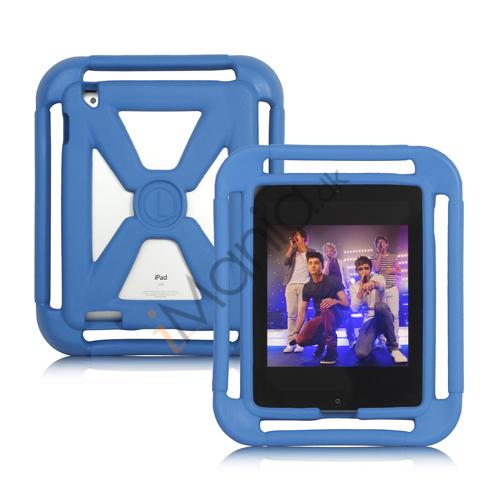 Stødabsorberende tætte skum X Frame Case Cover til Den Nye iPad 2. 3. 4. Gen, Flere farver
