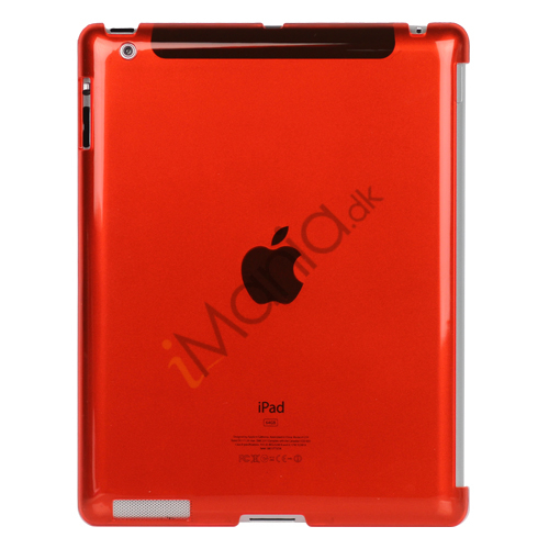 Image of   Klar Smart Cover Companion Crystal Case til iPad 2 Den nye iPad 3rd Generation - Rød