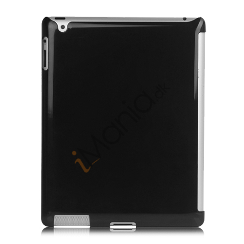 Glossy Hard Case Cover til iPad 2. 3. 4. Generation Smart Cover Companion - Sort