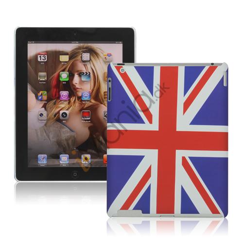 Union Jack Flag Gummi Hard Case Cover til Den Nye iPad 2. 3. 4. generation