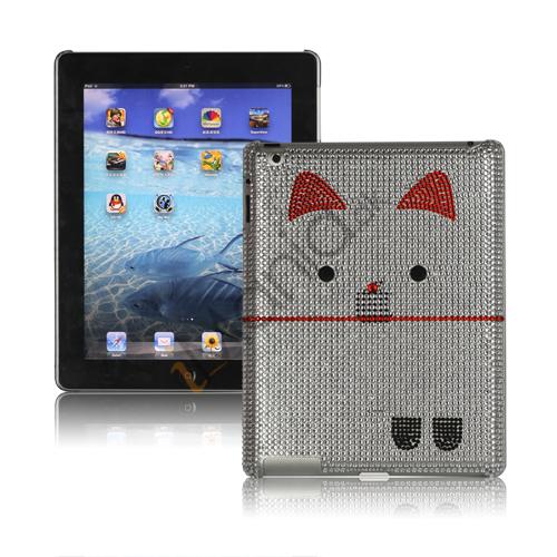 Image of   Indtagende Kutusitanyanko Cat Diamante Taske til den nye iPad 3rd gen - Hvid