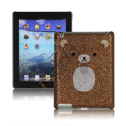 Billede af Adorable Rilakkuma Rhinestone Swarovski Taske til den nye iPad 3rd Generation - Brun