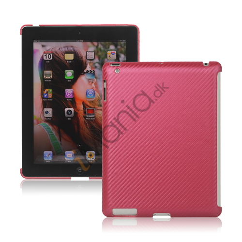 Billede af Carbon Fiber Kunstlæder Hard Case Smart Cover Companion til iPad 2 3 4 - Rose