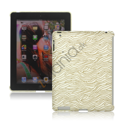 Image of   Flash Powder Zebra Smart Cover Companion Case til iPad 2. 3. 4. Gen - Gul