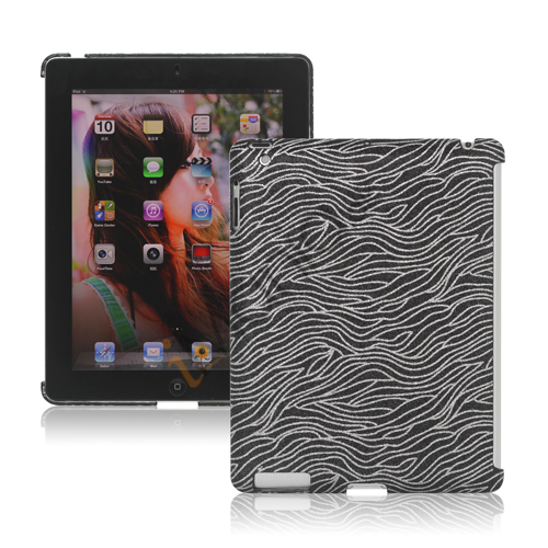 Image of   Flash Powder Zebra Smart Cover Companion Case til iPad 2. 3. 4. Gen - Sort