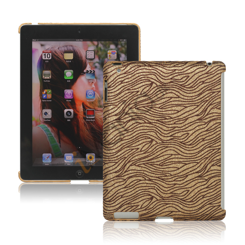 Image of   Flash Powder Zebra Smart Cover Companion Case til iPad 2. 3. 4. Gen - Brun