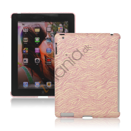 Flash Powder Zebra Plastic Companion Case til iPad 2. 3. 4. Generation - Pink